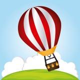 Air balloon design Stock Image