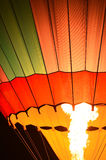 Air balloon in the evening sky Royalty Free Stock Photography