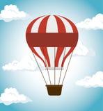 Air balloon festival funfair icon Stock Photography