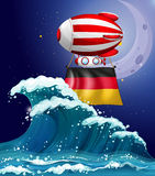 An air balloon with the flag of Germany Royalty Free Stock Image