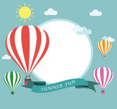 Air balloon flying Royalty Free Stock Images