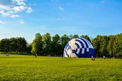 Air balloon on the ground Royalty Free Stock Photo