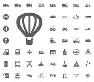 Air balloon icon. Aerostat icon. Transport and Logistics set icons. Transportation set icons.  Royalty Free Stock Images