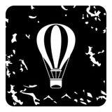 Air balloon icon, grunge style Royalty Free Stock Image