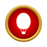 Air balloon icon in simple style Royalty Free Stock Images