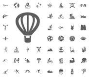 Air balloon icon. Sport illustration vector set icons. Set of 48 sport icons. Air balloon icon. Sport illustration vector set icons. Set of 48 sport icons Royalty Free Stock Photography