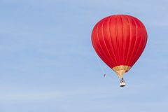 Air Balloon Levitating Over the Crowd of People Standing Outdoor Stock Photos
