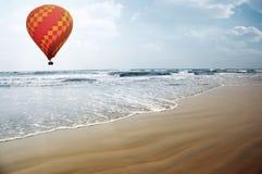 Air balloon over the sea Stock Photos