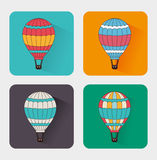 Air balloon over white background vector illustration Stock Photos