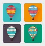 Air balloon over white background vector illustration Stock Photos