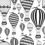 Air balloon pattern. Vintage  Color Air balloon pattern.  Vector illustration Stock Photography