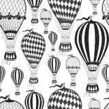 Air balloon pattern Stock Photography