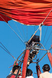 Air Balloon. People in red air balloon Stock Photo