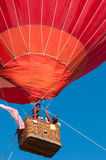 Air Balloon. People in red air balloon Royalty Free Stock Photo