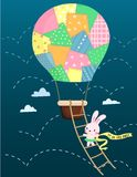Air Balloon Rabbit Stock Photo