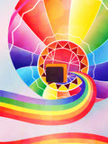 Air balloon with rainbow Stock Photos