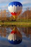 Air balloon reflecting Royalty Free Stock Image