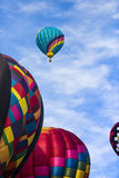 Air balloon rising Royalty Free Stock Photo