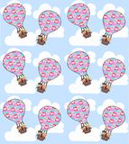 air balloon seamless Stock Photos