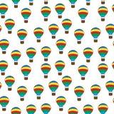 Air Balloon seamless texture, balloon background, wallpaper. Vector illustration Stock Image