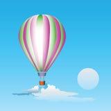 Air balloon in the sky. Vector illustration Stock Photo
