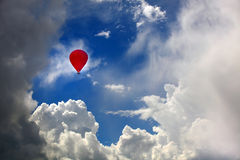 Air balloon in sky Stock Images