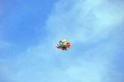 Air balloon in sky Royalty Free Stock Photography