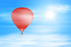 Air balloon in the sky Royalty Free Stock Photos