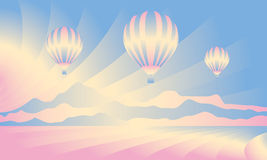 Air balloon in the sky Stock Images