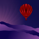 Air balloon in the sky Royalty Free Stock Photos