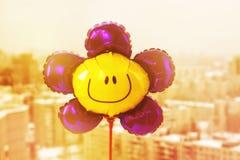 Air balloon with smiley face Stock Photos