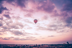 Air Balloon soaring high Royalty Free Stock Images