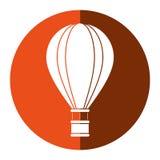 Air balloon travel recreation adventure orange circle Stock Photo