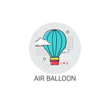 Air Balloon Trip Travel Tourism Icon Stock Photos
