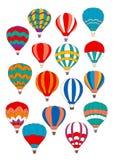 Air balloon vector isolated icons set vector illustration