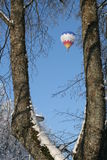 Air balloon in winter Stock Image