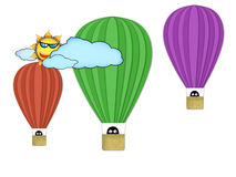 Air-balloons Stock Images