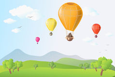 Air balloons Stock Image