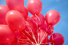 Air-balloons attached to string Royalty Free Stock Photo