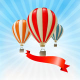 Air balloons background. Royalty Free Stock Photo
