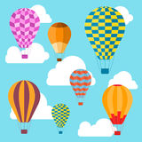 Air Balloons Background. Vector Stock Image