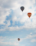 Air balloons in blue sky Stock Image