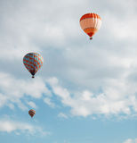 Air balloons in blue sky Royalty Free Stock Photography