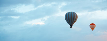 Air balloons in blue sky Royalty Free Stock Photo