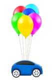 Air balloons and car Royalty Free Stock Photography