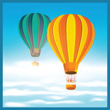 Air balloons in the clouds Stock Images
