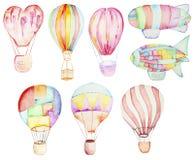 Air balloons collection Royalty Free Stock Photos