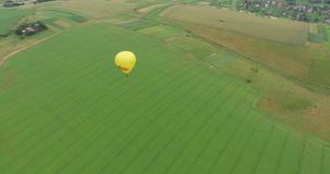 Air balloons flying over valleys in Ukraine. Tourists from all over the world come to Ukrainian to make a trip in a hot stock video