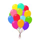 Air balloons group carnival happy surprise helium string. Bunch colorful Stock Images