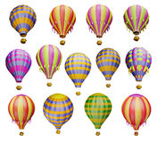 Multicolored air balloons. Air balloons. Isolated on white background royalty free illustration